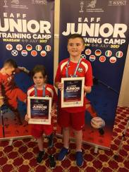 Keeley and Ryan with medals