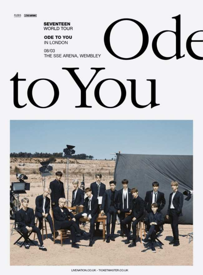 K Pop Superstars Seventeen Ode To You Tour Venues Announced