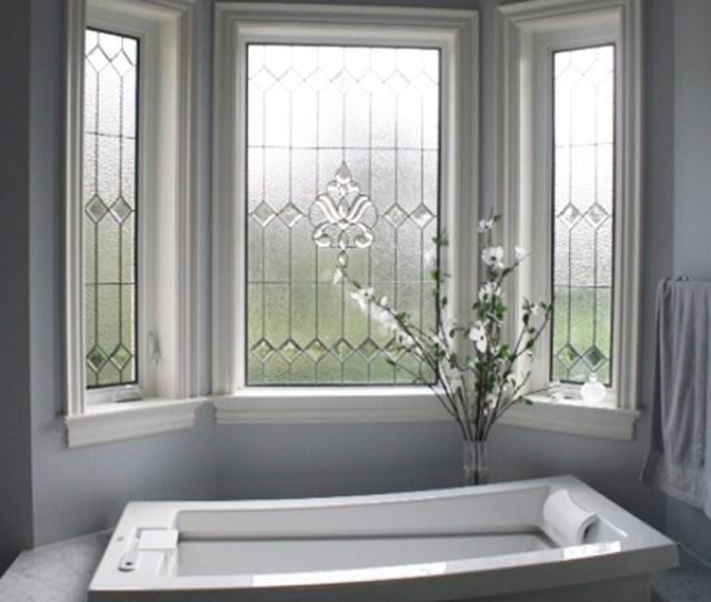 Stained Glbathroom Three Windows
