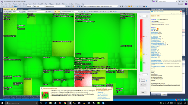 NDepend Cyclomatic Complexity Heatmap