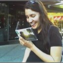 My biggest fan, #1 on the pre-order list for this one! Tiny picture taken with a Razr - remember those?