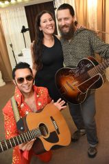 Brandy's in on the guitar fun...