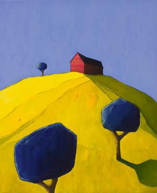 """Scott Redden, 'Red Barn Composition,' 2006, oil on linen, 22"""" x 18"""""""