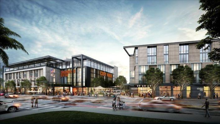 Oakland Park new city hall render image
