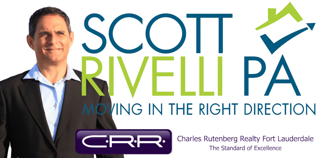 Pic of Scott Rivelli, Realtor with Logo and CRRealty Logo