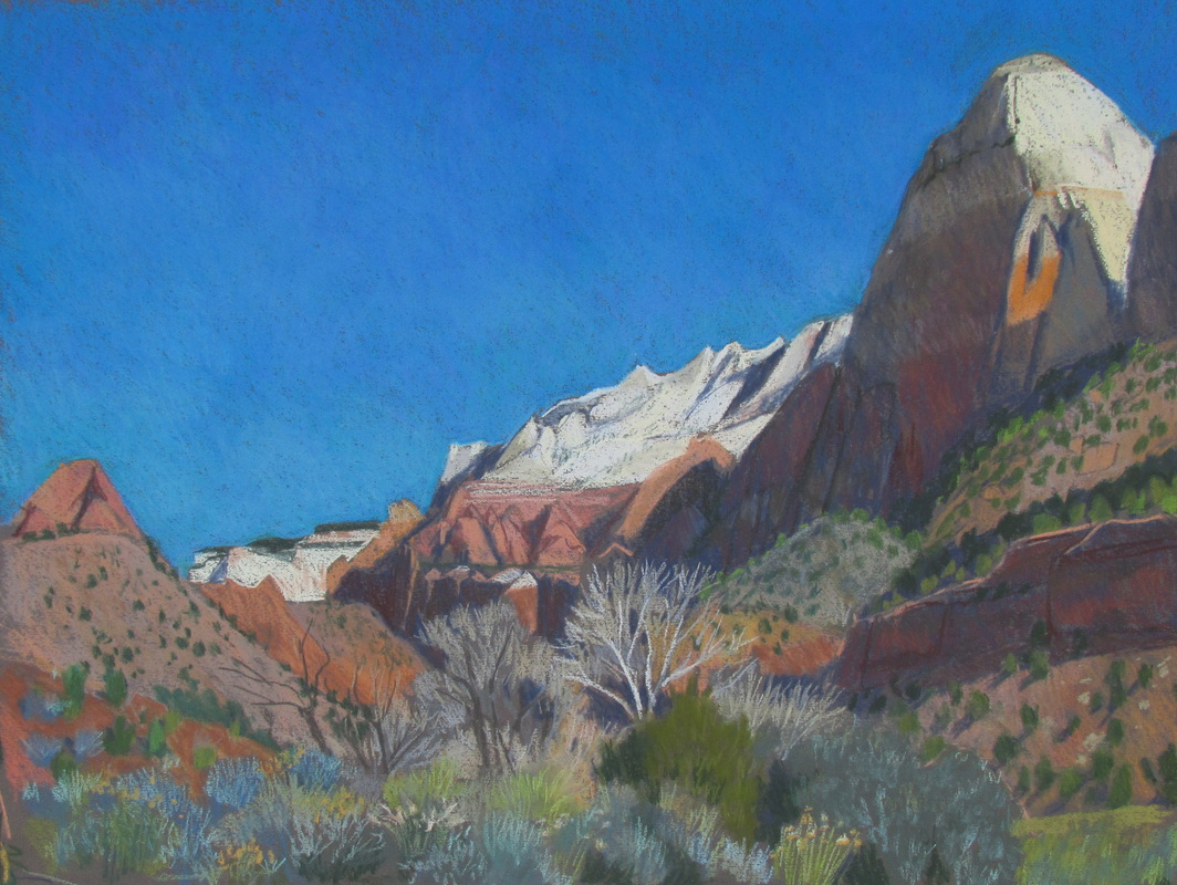 Zion, Utah, pastel, southwest, Scotty Mitchell
