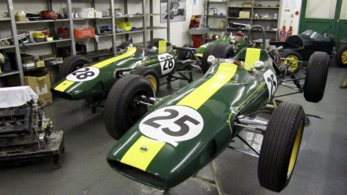A sneaky glimpse inside the workshops of Classic Team Lotus and their beautiful cars