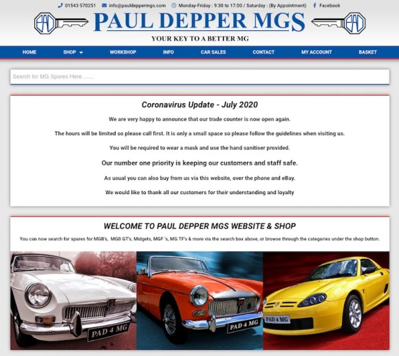 PAUL DEPPER MG in SCOTTYS Supplier Library