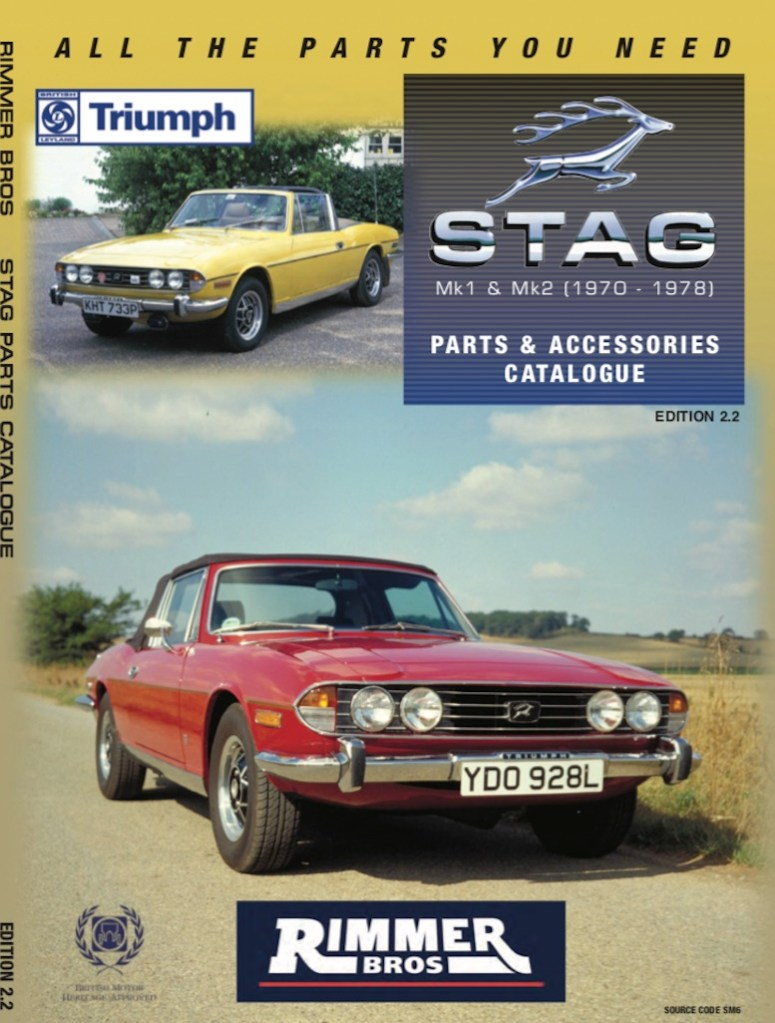 Triumph Stag Parts Guide Scottys Supplier Library