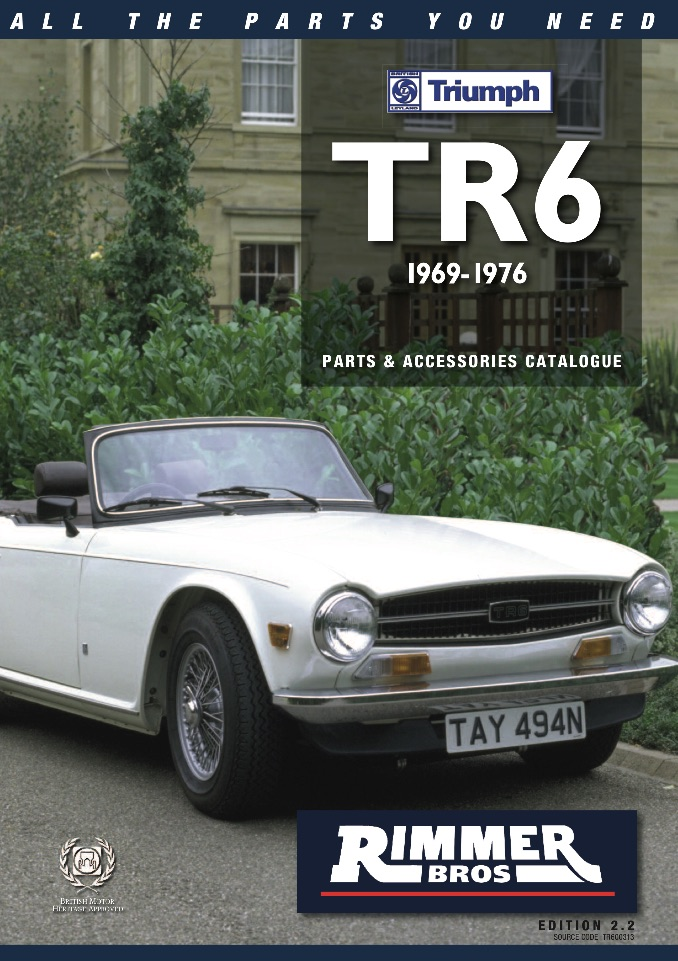 TRIUMPH TR6 PARTS GUIDE RIMMER on SCOTTYS Supplier Library PIC2