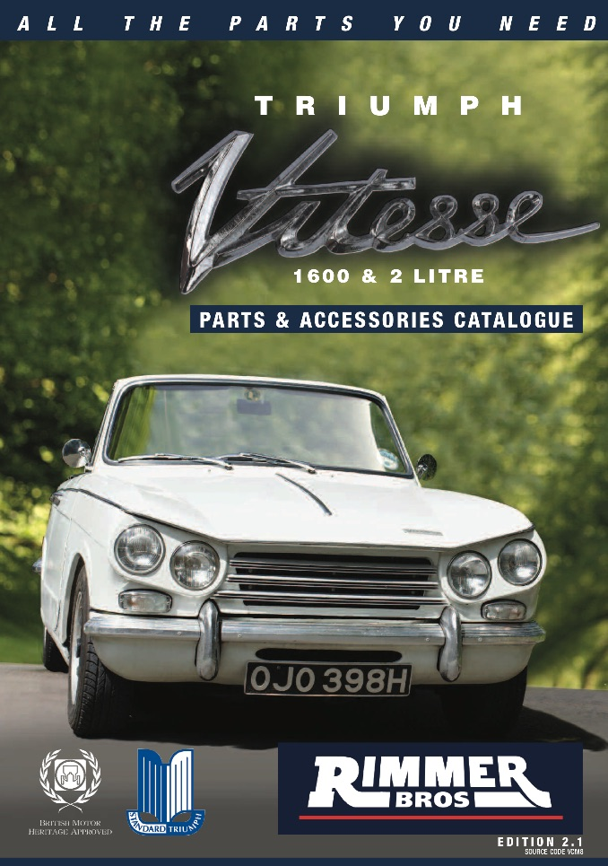 TRIUMPH VITESSE PARTS GUIDE | RIMMER on SCOTTYS Supplier Library Pic 2