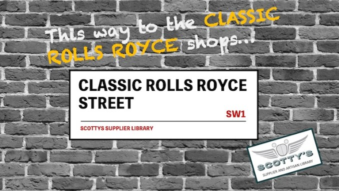 CLASSIC ROLLS ROYCE PARTS SUPPLIERS