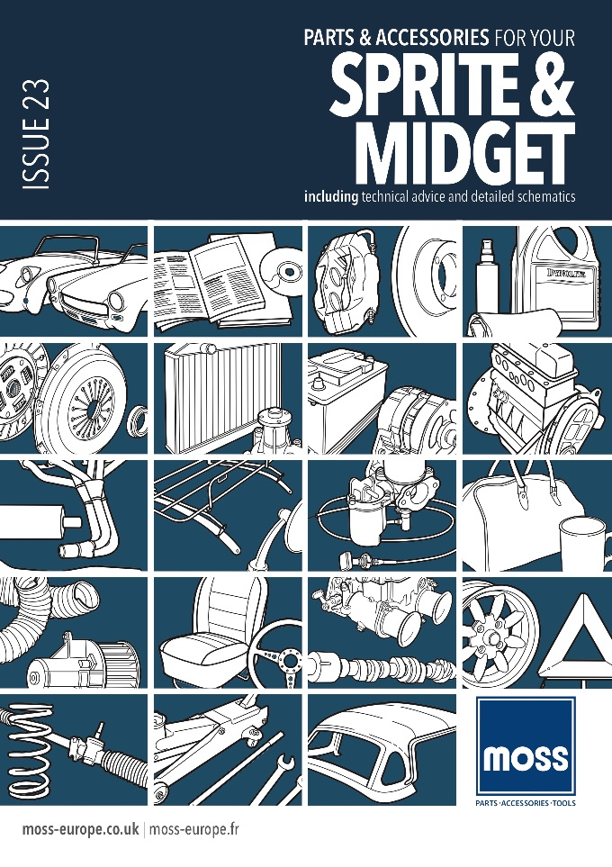 MG MIDGET PARTS GUIDE - MOSS on SCOTTYS Supplier Library
