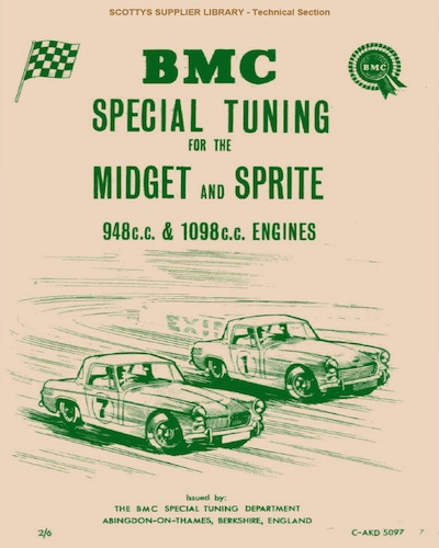 BMC SPECIAL TUNING MIDGET and SPRITE ( 948cc 1098cc ENGINES ) Ref- C- AKD5097