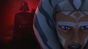 Ahsoka as she realizes who Vader is.