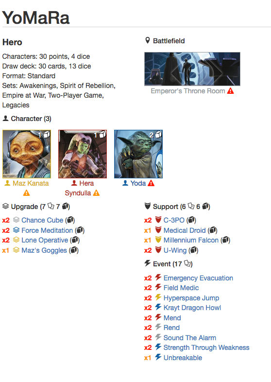 Here Is The Deck And As Always Feel Free To Make Suggestions