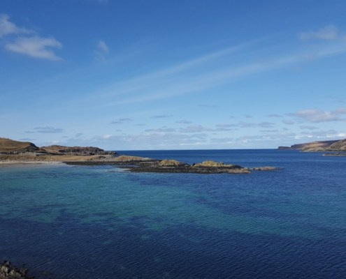 View of Scourie Bay from Caravan and Camping Site