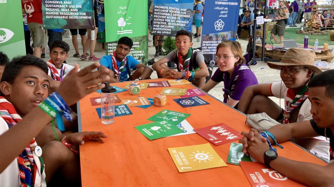 Ireo skoto malagasy tany amin'ny Jamboree faha-24 (Virginie, USA) Sary: Franck Ramanarivo (TEKY Mandroso)