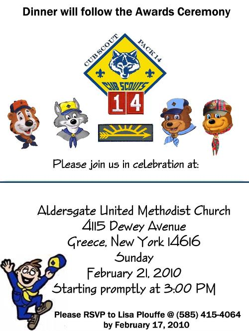 Cub Scout Invitation Template
