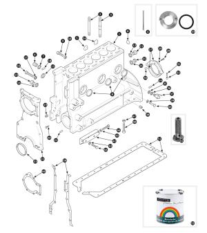 Parts for Jaguar XK120, XK140 and XK150 • Cylinder block