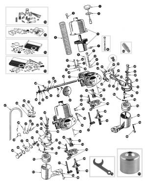 Parts for Austin Healey BN1  BJ8 • Carburetor BJ8  SC Parts Group Ltd
