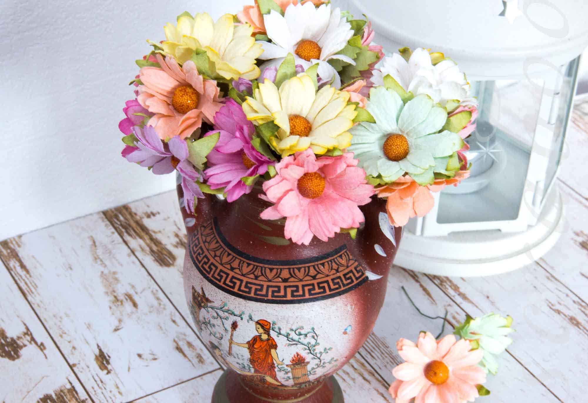 스크랩북을위한 종이 꽃