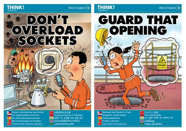 Cartoon Illustration Gallery Health And Safety Posters