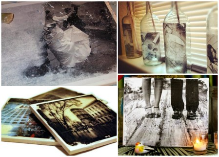 DIY MET FOTO TRANSFER onderleggers foto transparant maken
