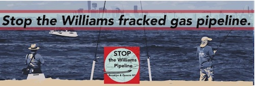 image with a header that says 'Stop the Williams Gas Pipeline'
