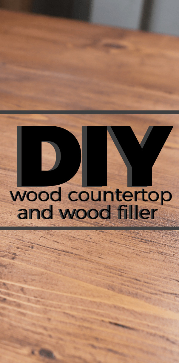 Diy Wood Countertop And Wood Filler For The Kitchen