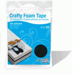 Crafty Foam Tape Black