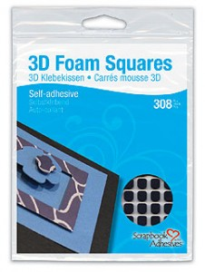 3D Foam Squares Small Black -1613