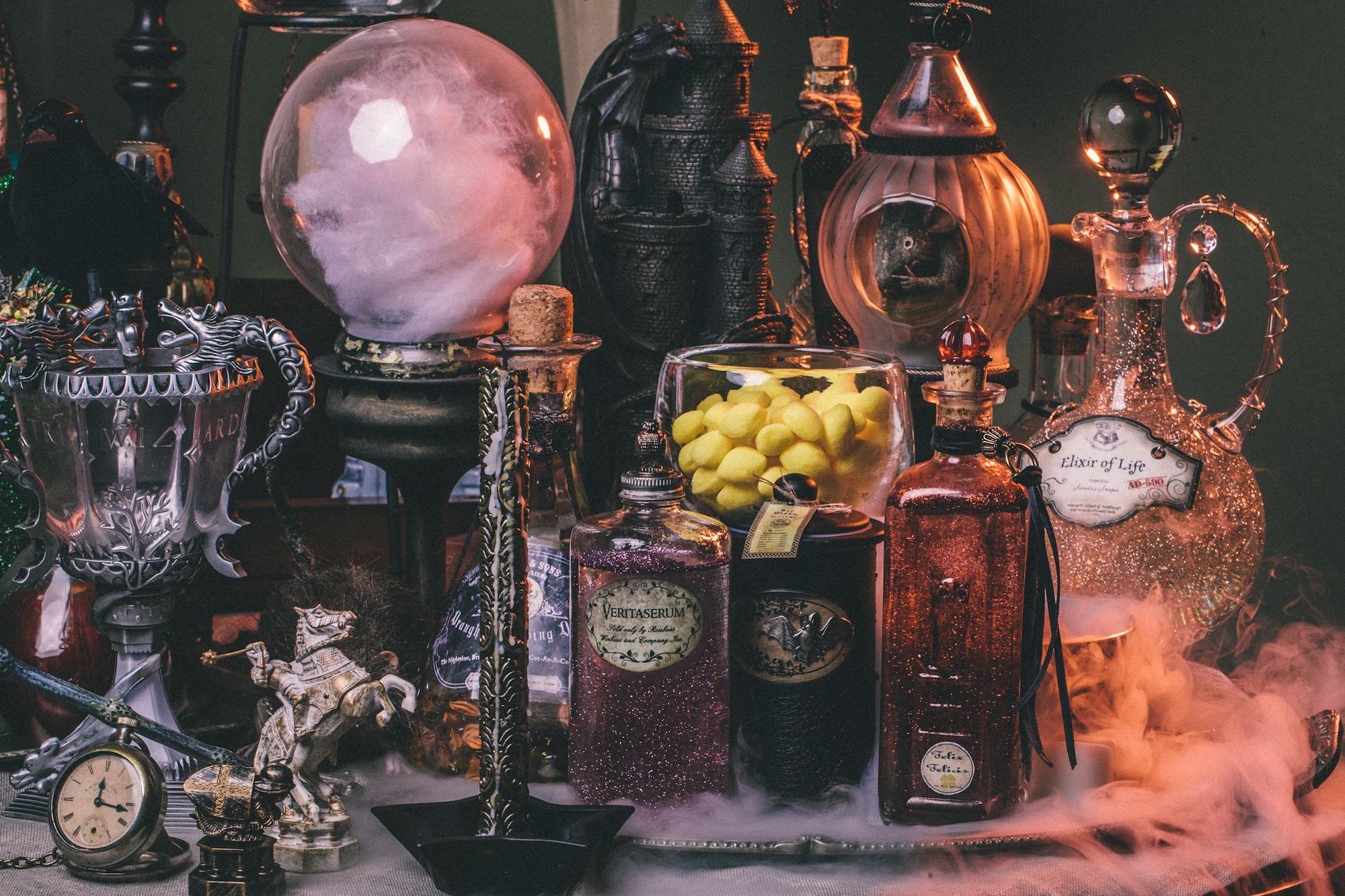 Diy Harry Potter Potion Display For Halloween Dumbledore