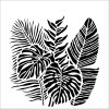 The Crafter's Workshop - 6 x 6 Stencil - Tropical Fronds