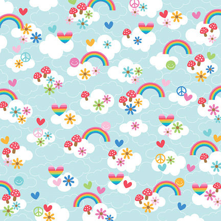 Doodlebug Design - Feeling Groovy Collection - 12 x 12 Paper - Over The Rainbow click to enlarge