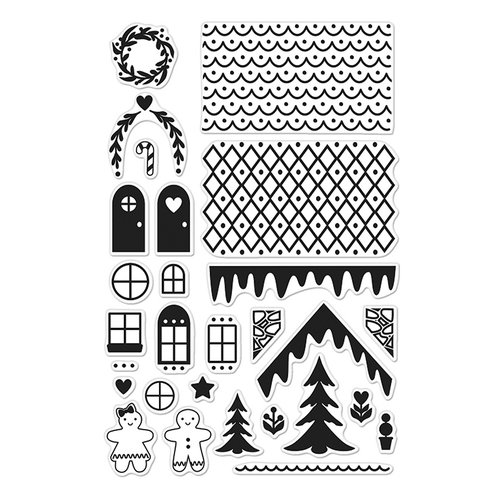 Hero Arts Lia Griffith Make a Gingerbread House Stamps