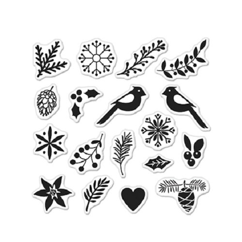 Hero Arts Lia Griffith Build a Wreath Stamps