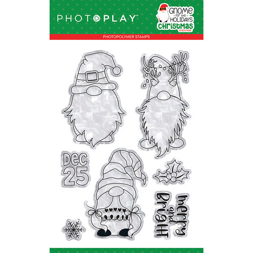 Photo Play Paper - Gnome for Christmas Collection - Clear Photopolymer Stamps