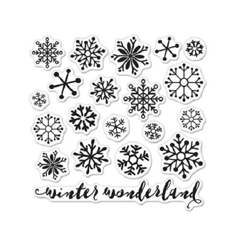 Hero Arts Lia Griffith Snowflakes Stamps