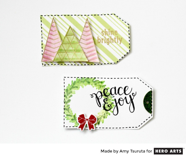 Hero Arts Color Layering Wreath Poly Clear Stamps