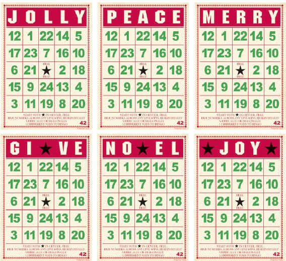 Jenni Bowlin Studio Mini Bingo Cards Christmas