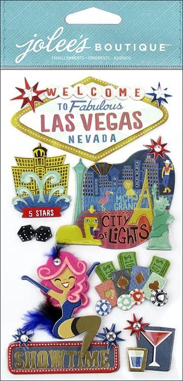 EK Success Jolees Boutique Las Vegas 3D Stickers