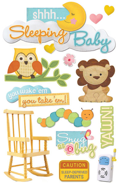 Paper House Productions 3 Dimensional Cardstock Stickers