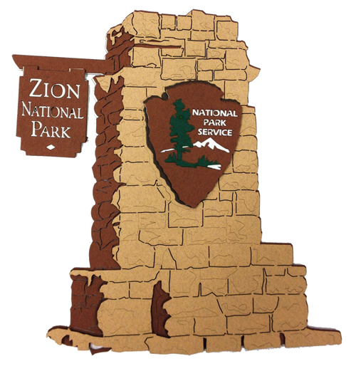 Paper Wizard National Parks Collection Die Cuts Zion