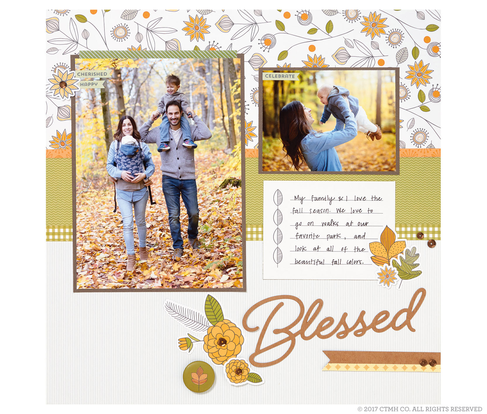 Falling For You Scrapbook Layout