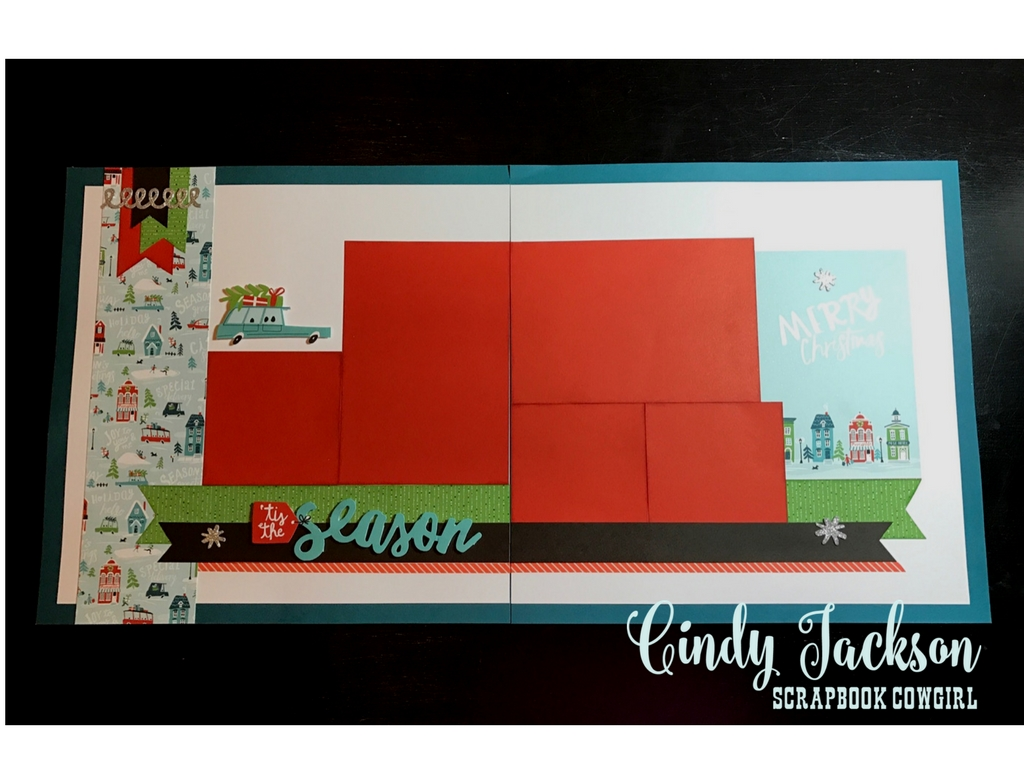 City Sidewalks Scrapbook Layout One