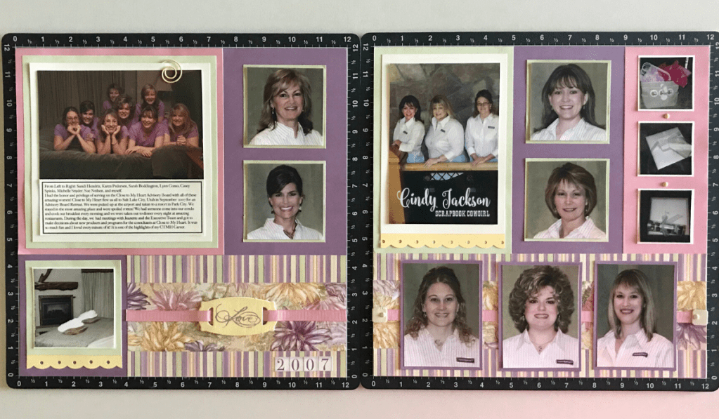 Paper Garden Layout with photos and journaling.