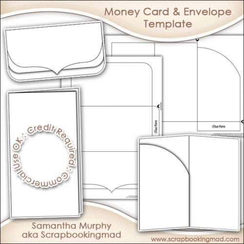 Money Gift Card Amp Envelope Template Commercial Use 350