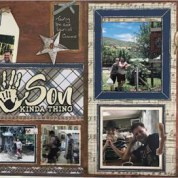 Back 2 School Layout Share, Double Father Page
