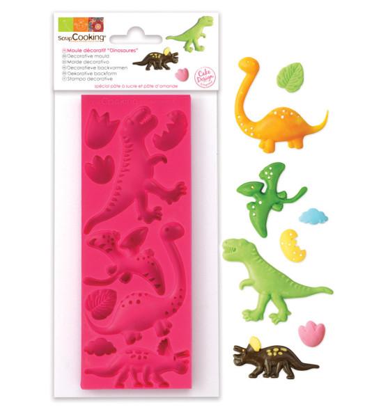 moule pate a sucre dinosaures